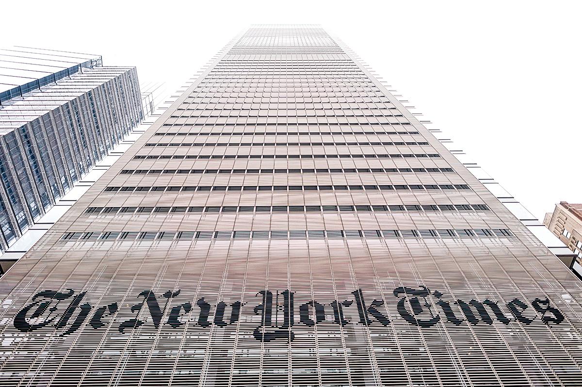 紐約市的《紐約時報》大樓。(Getty Images)