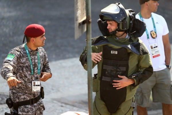 里約奧運首日驚傳爆炸 子彈射中媒體中心