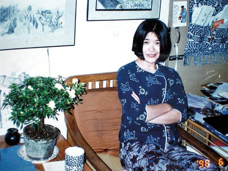 北京畫家許那與丈夫于宙的合影。2008年大年三十,于宙被中共以奧運為名虐殺。