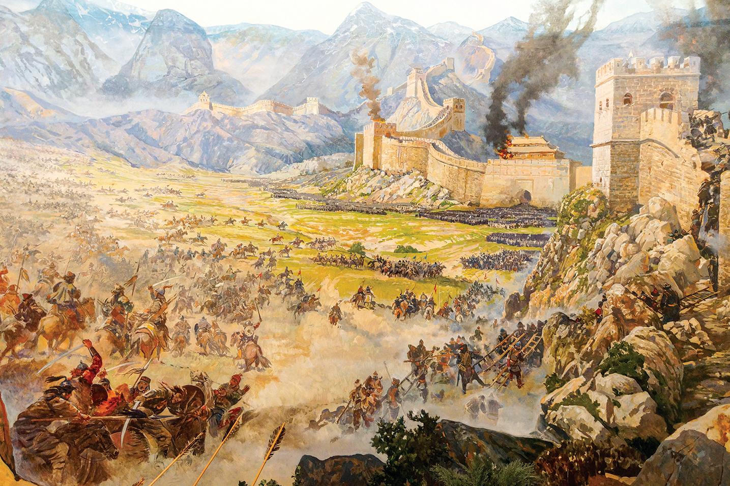 李廣跟匈奴打了四十七年,將近半個世紀的戰爭。畫中描繪的是匈奴人攻打長城的場景。(Shutterstock)