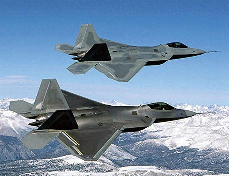 美國空軍F-22猛禽(F-22 Raptor)戰鬥機,具有隱形、超音速巡航和精確打擊等性能,被視為最先進的隱形戰機之一。(AFP)