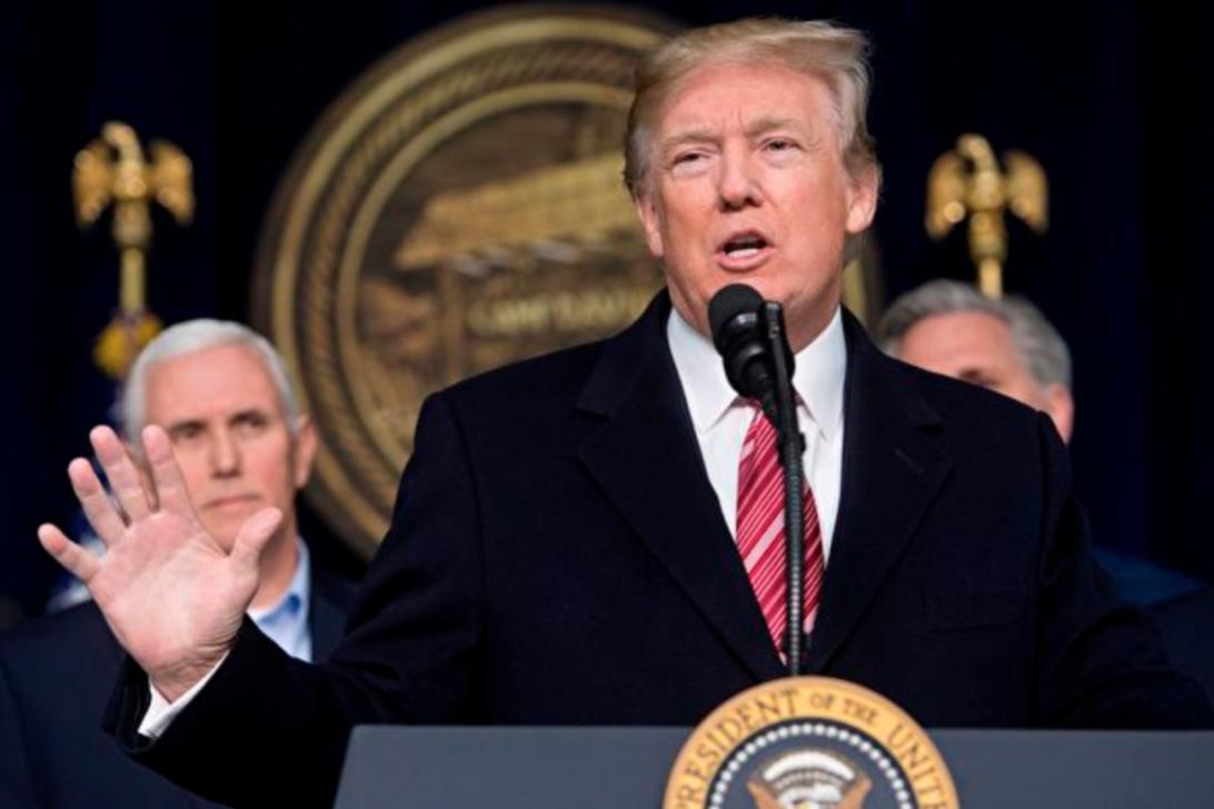 彭博社報道,有三位知情人士透露,美國特朗普政府準備在今日(8月7日)對中港官員實施制裁,包括行政長官林鄭月娥等。(SAUL LOEB/AFP/Getty Images)
