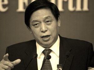 栗戰書8日現身北京,主持人大常委會議。(影片截圖)