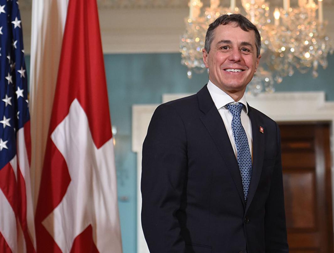 瑞士外交部長凱西斯警告,中共侵犯人權的情況正在加劇,如果中共執意繼續,西方國家將更果斷作出回應。(Getty Images)