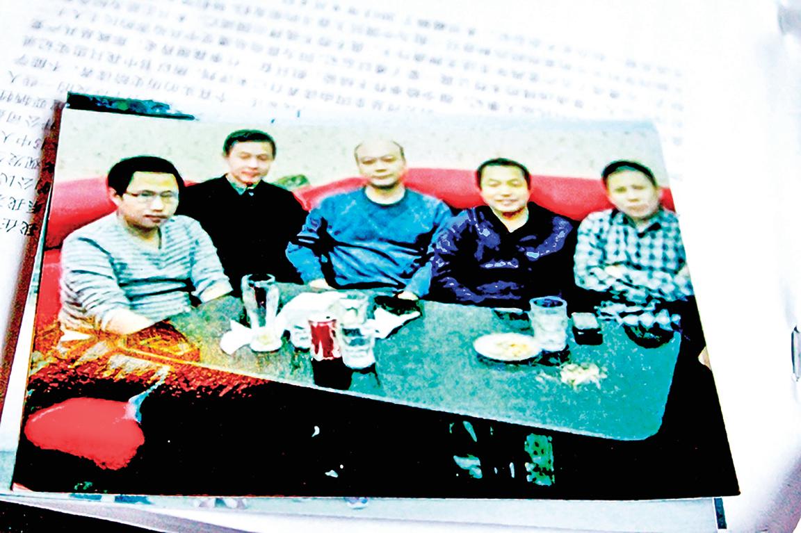 北京公盟主要成員的合影,左起郭予豪、李蔚、孫含會、丁家喜、許志永聚會時的照片。(郭予豪提供)