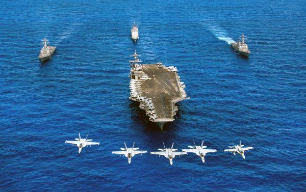 美國航空母艦「尼米茲號」(USS Nimitz)。 (AFP)