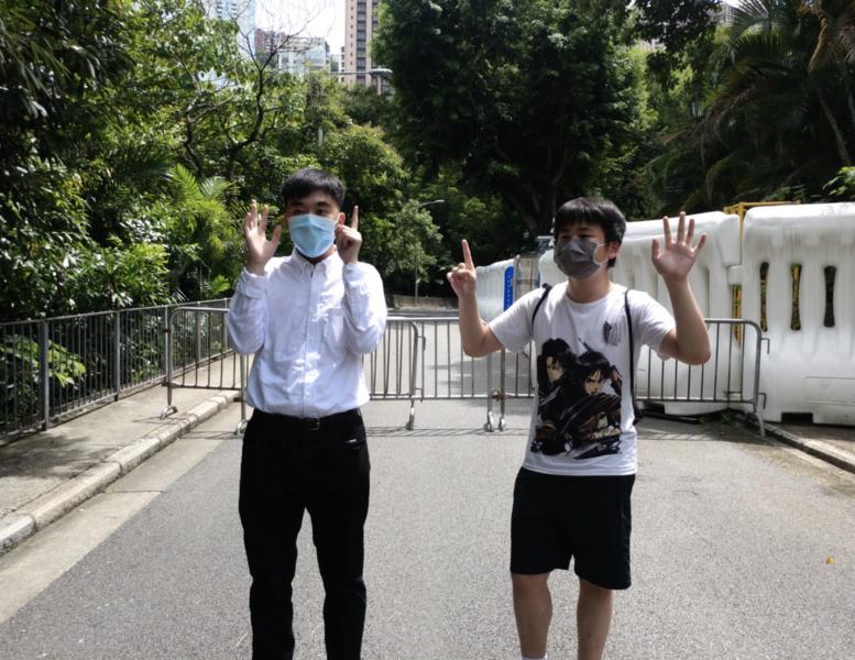 香港人和你lunch 「lunch 哥」高喊釋放黎智英