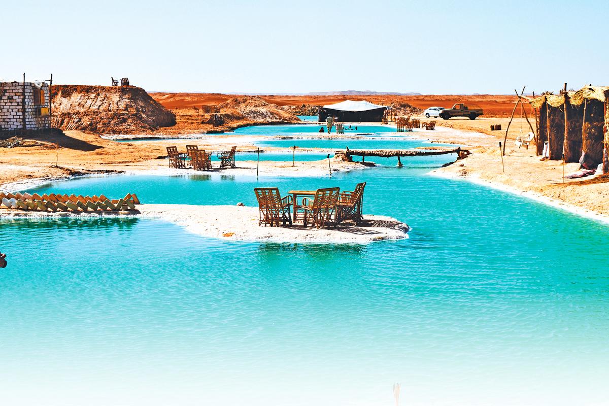 錫瓦綠洲位於埃及沙漠。