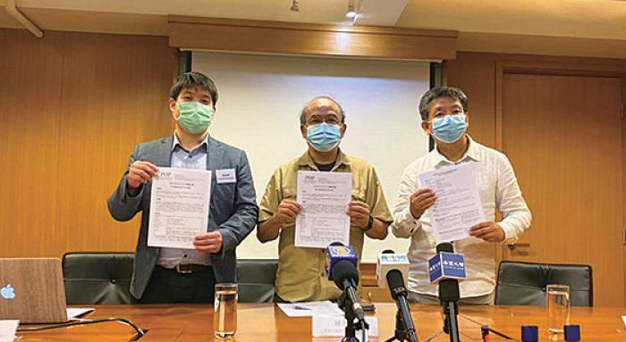 香港民研的最新民意調查顯示,特首林鄭月娥及3名司長的民望持續負面。林鄭上任以來的民望平均值是43.3分,為歷屆特首最低。(肖龍/大紀元)