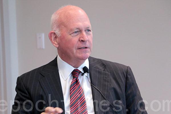 總統川普的外部對華貿易顧問,哈德遜研究所資深研究員白邦瑞。(蘇子清/大紀元)
