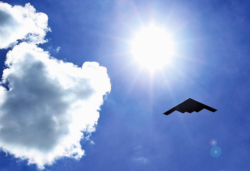 美B-2轟炸機部署印度洋 飛南海只需五小時
