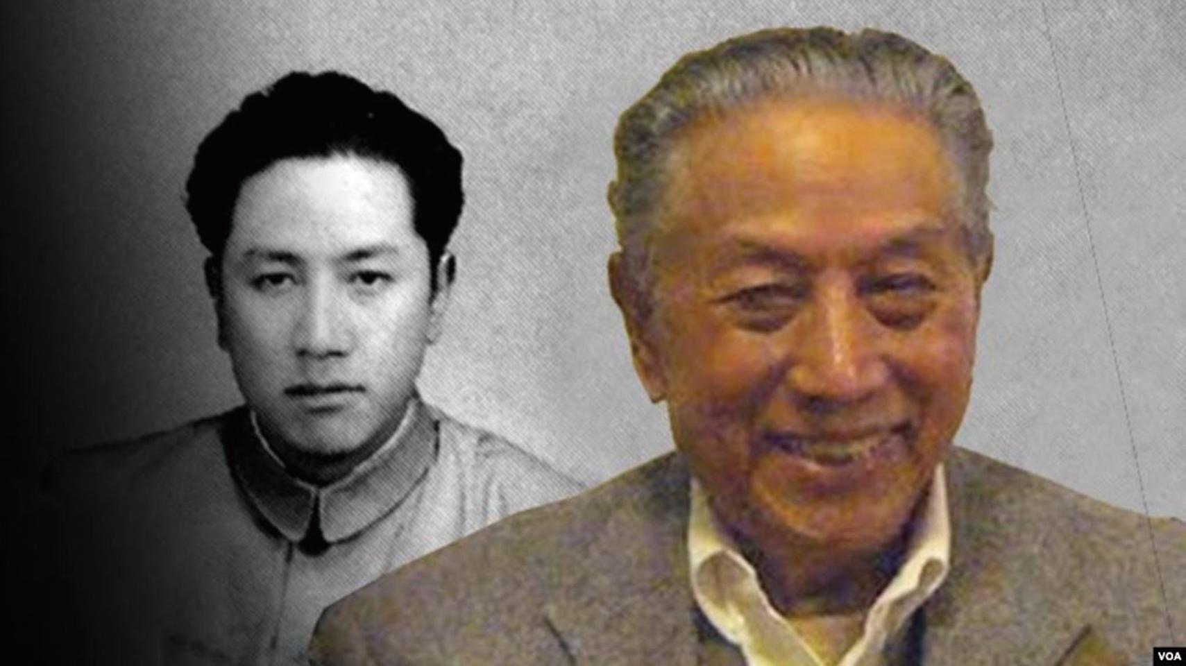 平措旺傑(如圖,後者為年輕時)是個傳奇人物。他的一生,就是毛澤東和鄧小平兩個帝國邊疆政策反覆過程的一面鏡子。(美國之音)