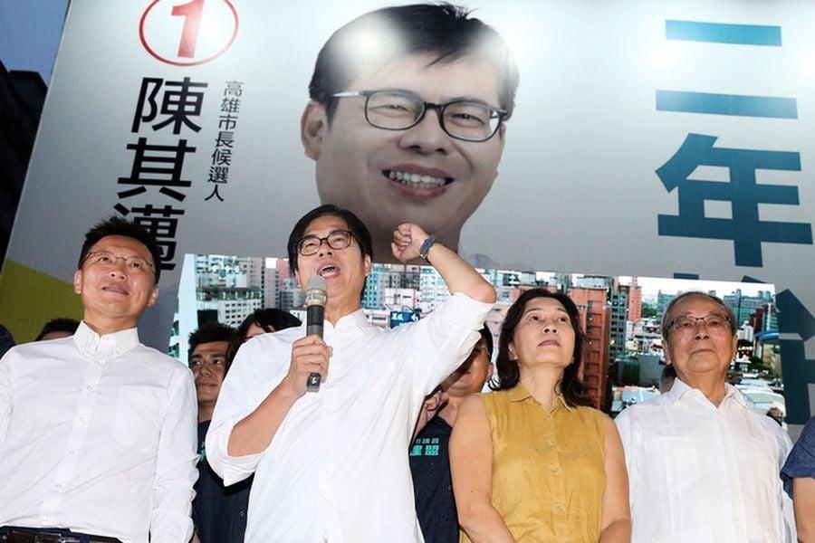罷韓後補選市長 陳其邁67萬票光復高雄