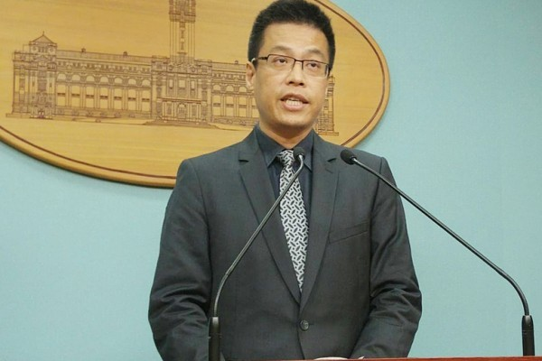 中華民國總統府發言人黃重諺。(中央社檔案照片)