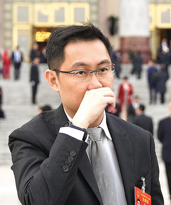 p騰訊董事會主席兼首席執行官馬化騰2019年3月在北京出席兩會。(Getty Images)。