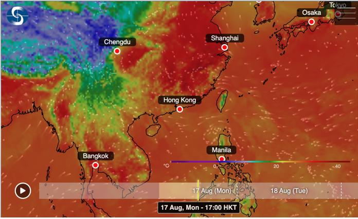 天文台發出「特別天氣提示」,現時位於呂宋附近的廣闊低壓區將於今日(8月17日)下午進入本港800公里範圍內,或發展成為熱帶氣旋,呼籲市民應留意天氣變化。(香港天文台網頁)