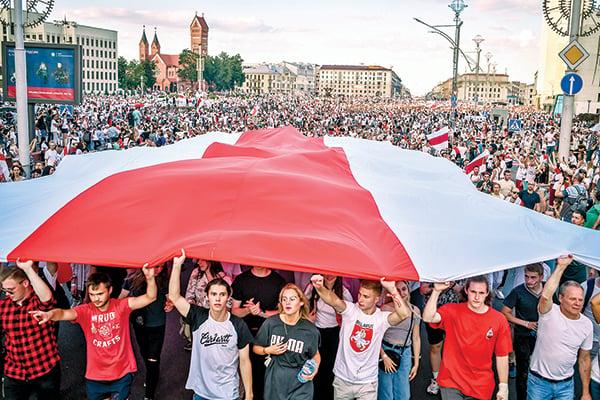 白俄羅斯廿萬人上街反獨裁