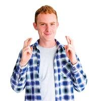 趣味英語 Cross the fingers 或finger crossed  手指交叉