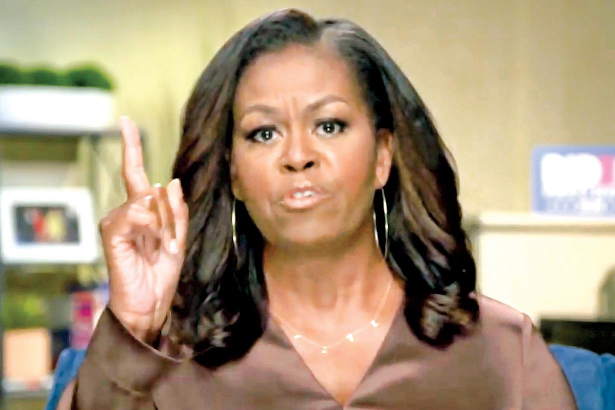 米歇爾‧奧巴馬在17日民主黨代表大會中發言。(Getty Images)