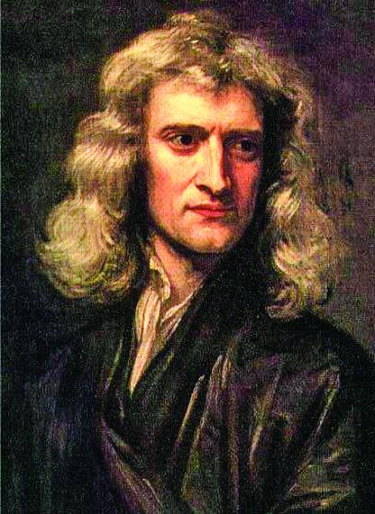 Godfrey Kneller於1689年繪製的46歲的牛頓肖像。(公有領域)