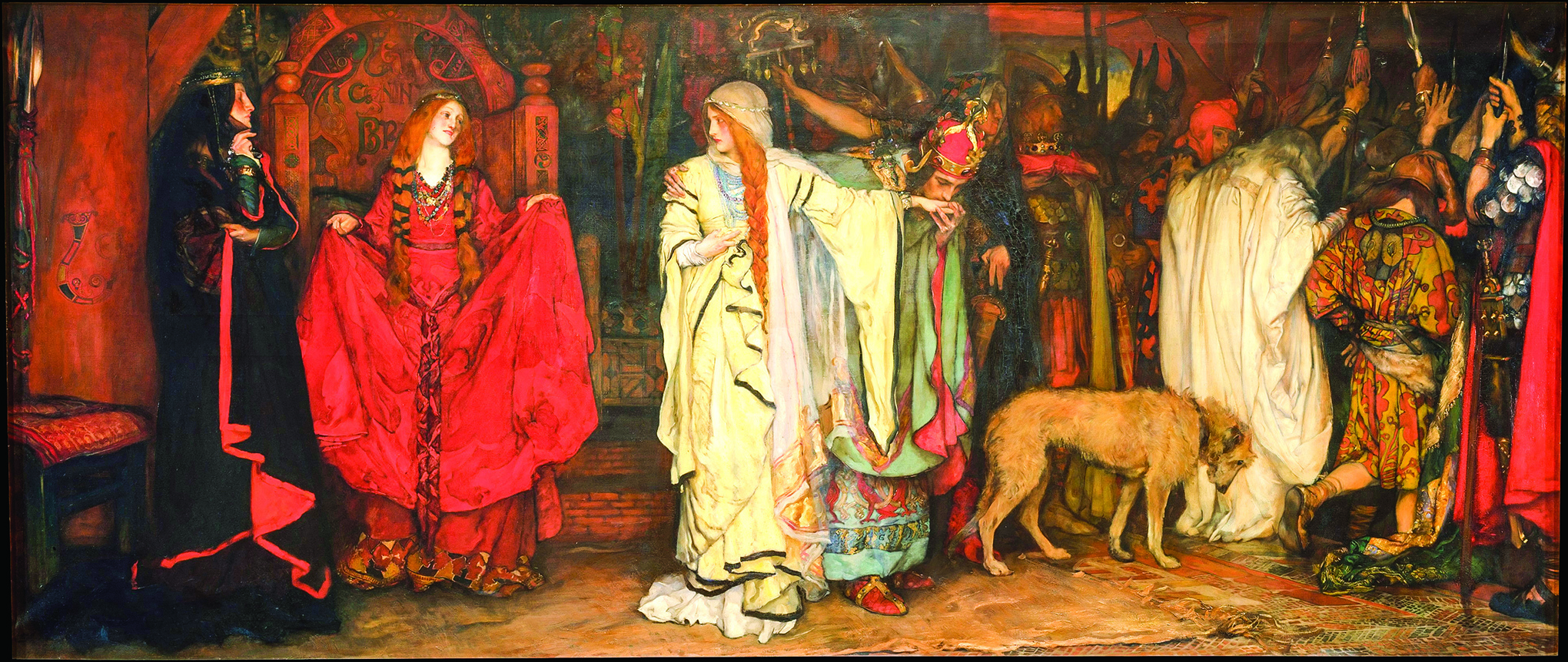 Edwin Austin Abbey於1898年 繪製的《 李爾王:蔻蒂莉亞的告別》(King Lear: Cordelia's Farewell ) (公有領域)