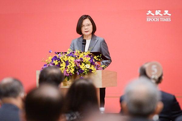 8月19日,中華民國總統蔡英文針對中共喉媒宣稱「於台灣上空演習也不是不可能」表示,有信心保護國家。圖為蔡英文總統。(陳柏州/大紀元)