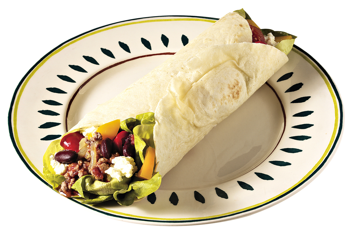 墨西哥捲餅的餡料可加入豆泥或煮好的豆子。