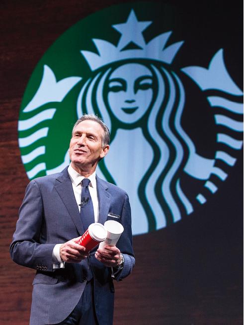 星巴克總裁霍華德·舒爾茨(Howard Schultz)。 (Stephen Brashear/Getty Images)