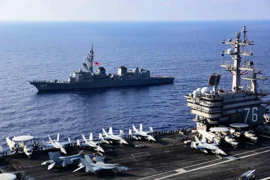 美日東海大型軍演 美防長將訪問印太地區