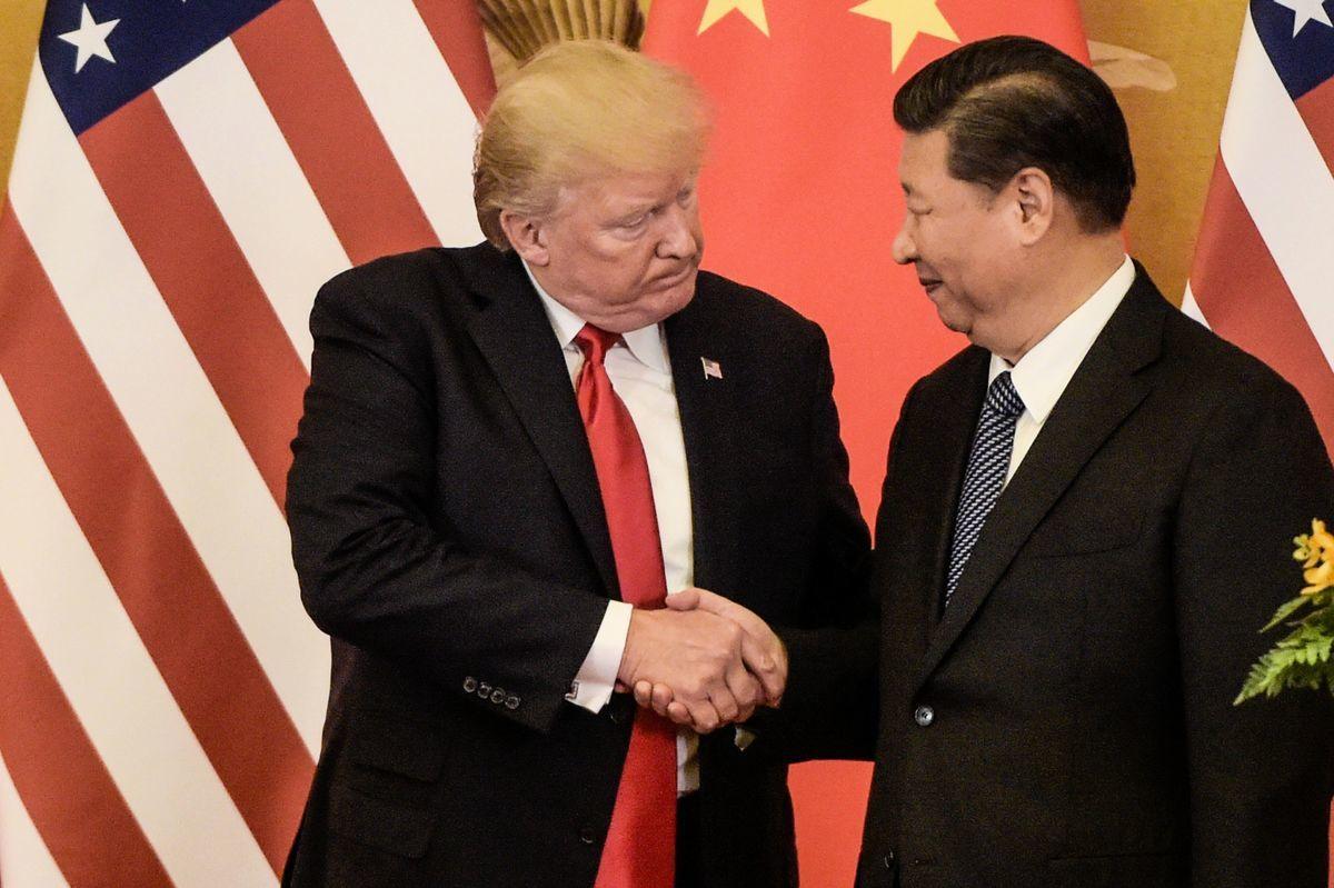 中美關係急速惡化。8月15日預定的中美貿易協議評估視像會議突然被取消,何時重啟頗受外界關注。(FRED DUFOUR/AFP via Getty Images)