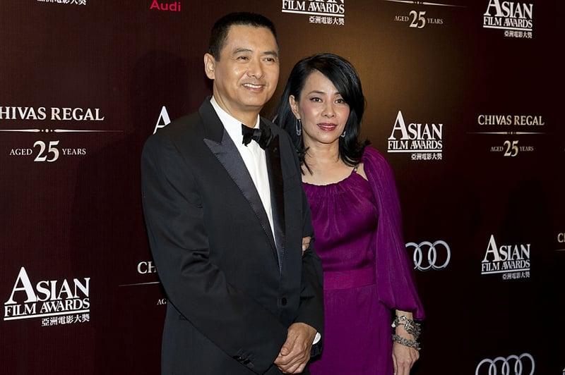 香港知名藝人周潤發和妻子出席活動圖片。(Victor Fraile/Getty Images)