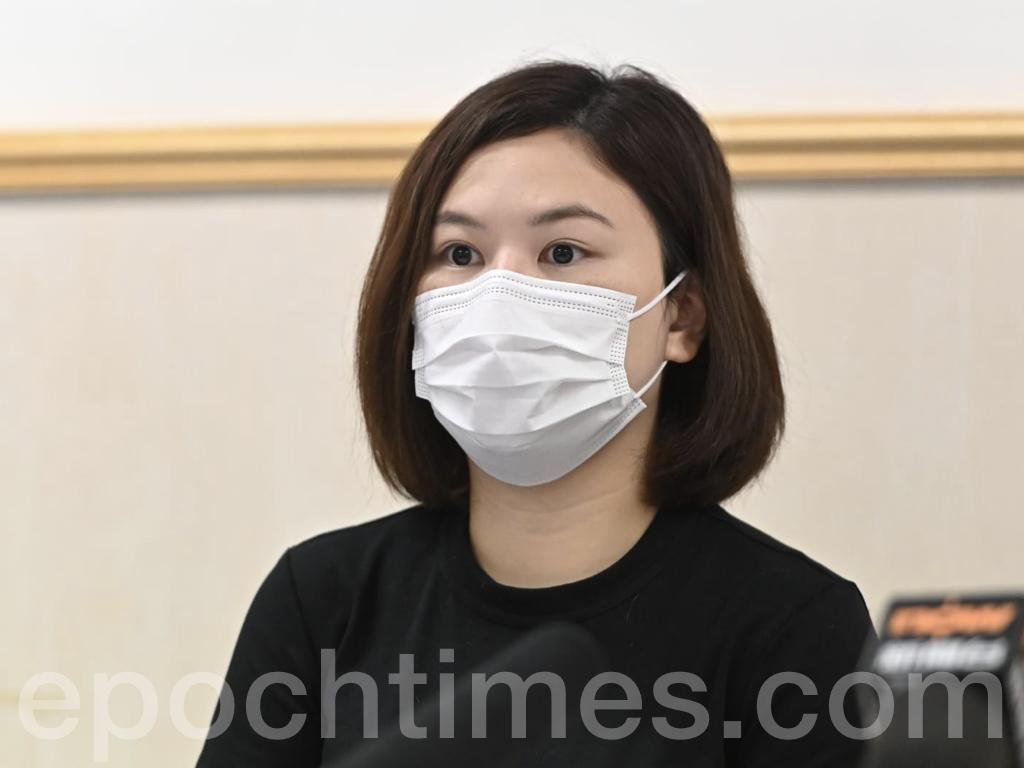 醫管局員工陣線主席余慧明表示,據統計,截止8月21日,21位醫管局員工受到感染。(宋碧龍 / 大紀元)