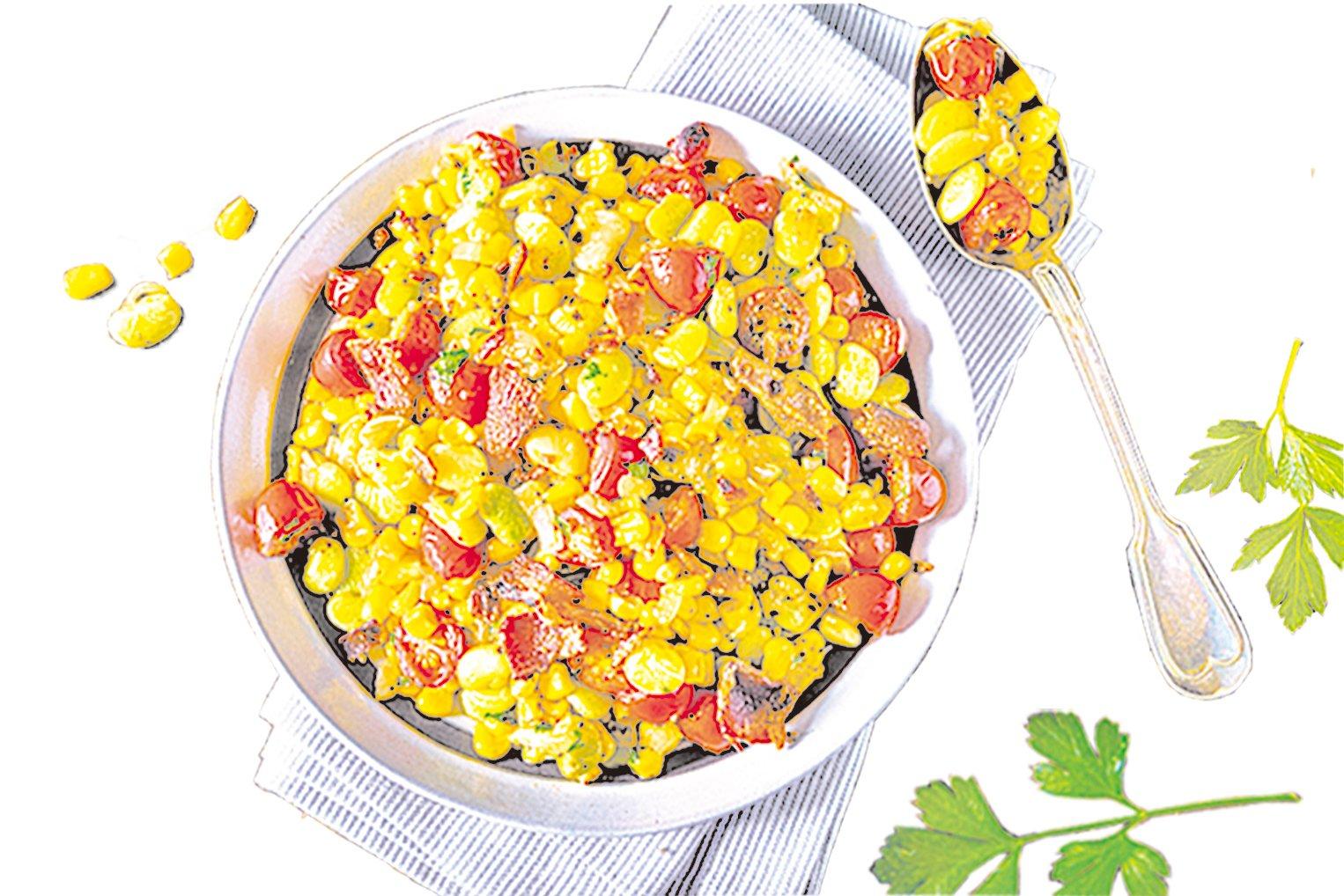 豆煮粟米(Succotash)是一道源自美洲印第安民族的菜餚。