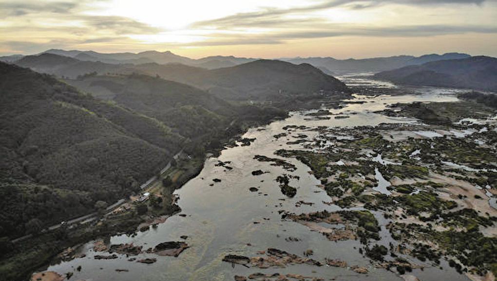 圖為泰國境內的湄公河流域。(AFP)