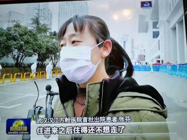 有人諷刺道:「她的肺炎治好了,腦子卻壞了。」(影片截圖)