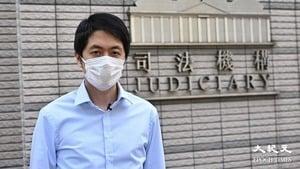 【圖片新聞】許智峯檢控的士撞人案 律政司介入法庭撤控