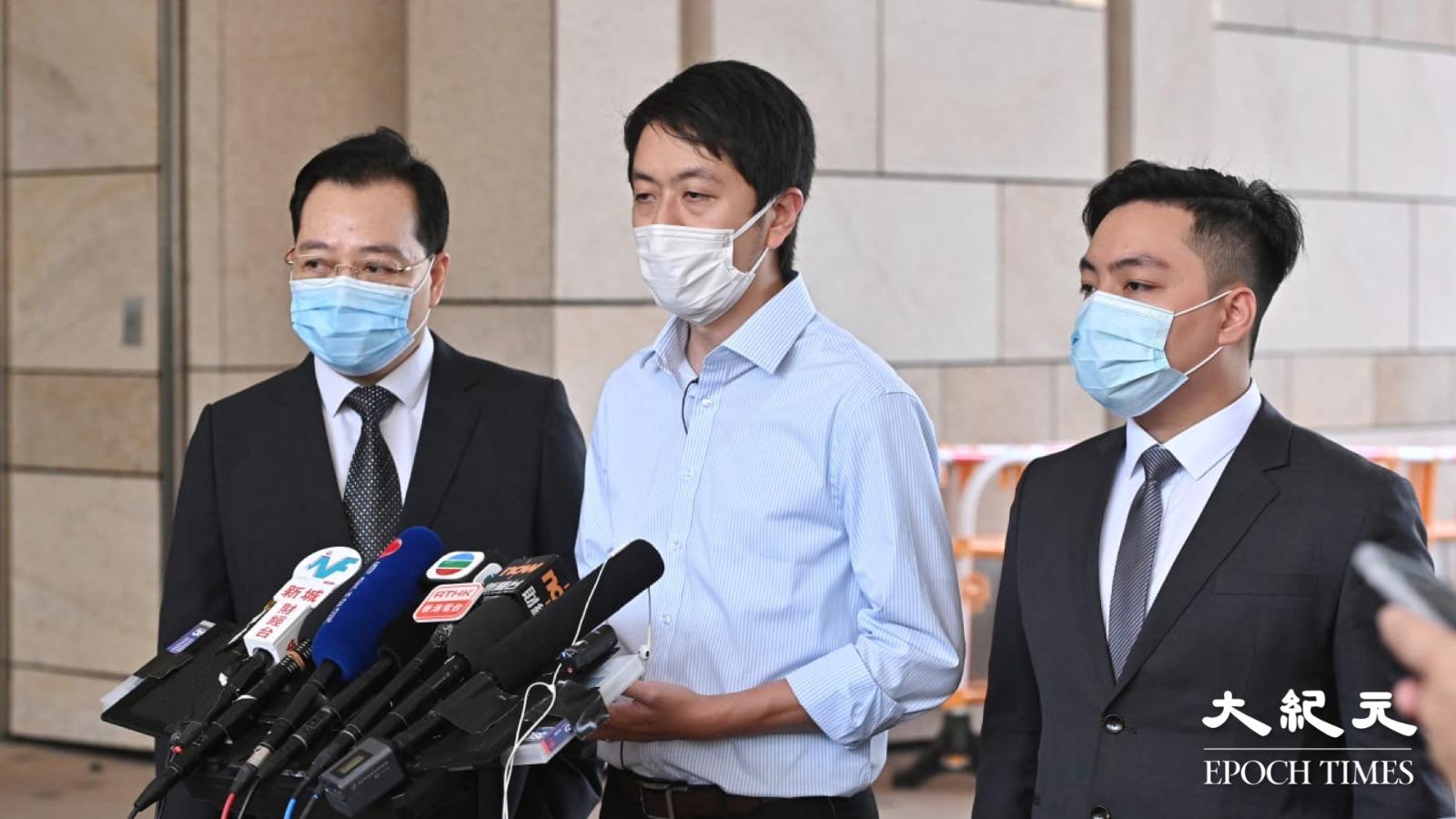 許智峯私人檢控的士撞人案,律政司介入法庭撤控。(宋碧龍/大紀元)