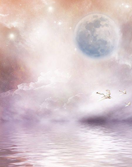 天接地,地接天。銀河隔,天人兩分。 (pixabay)