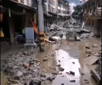 隴南爆發百年一遇泥石流 部份地區損失超汶川地震