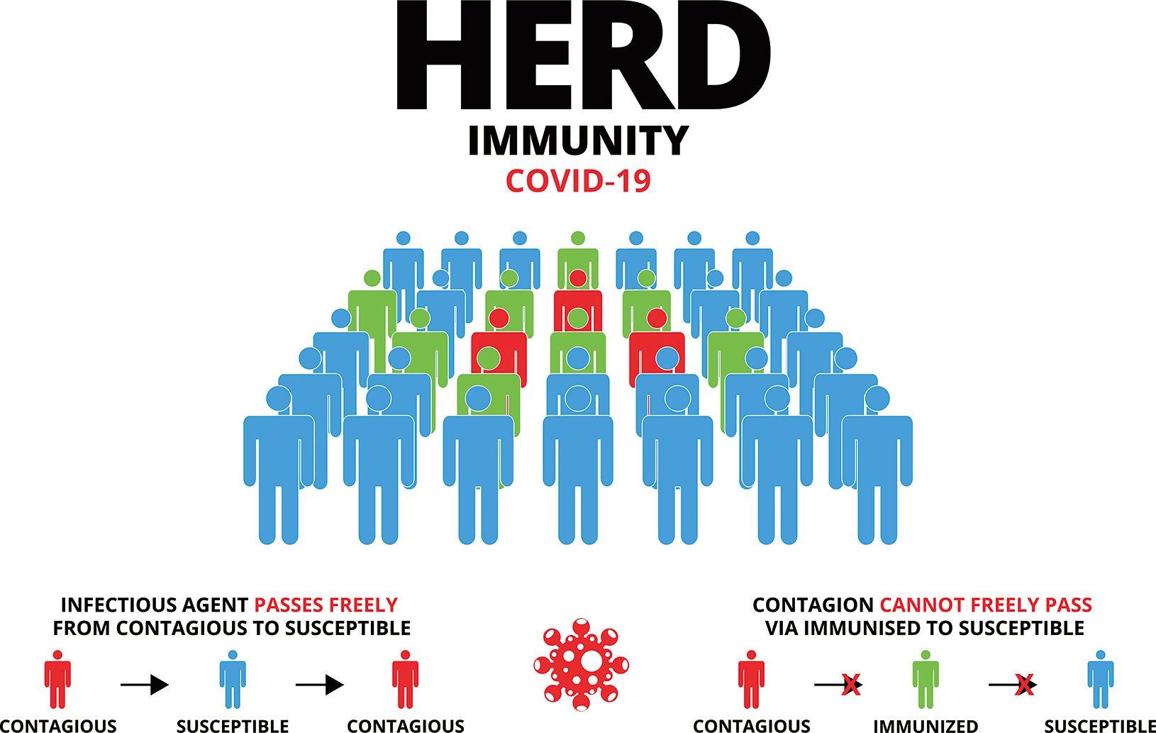 群體免疫示意圖。(Shutter Stock)