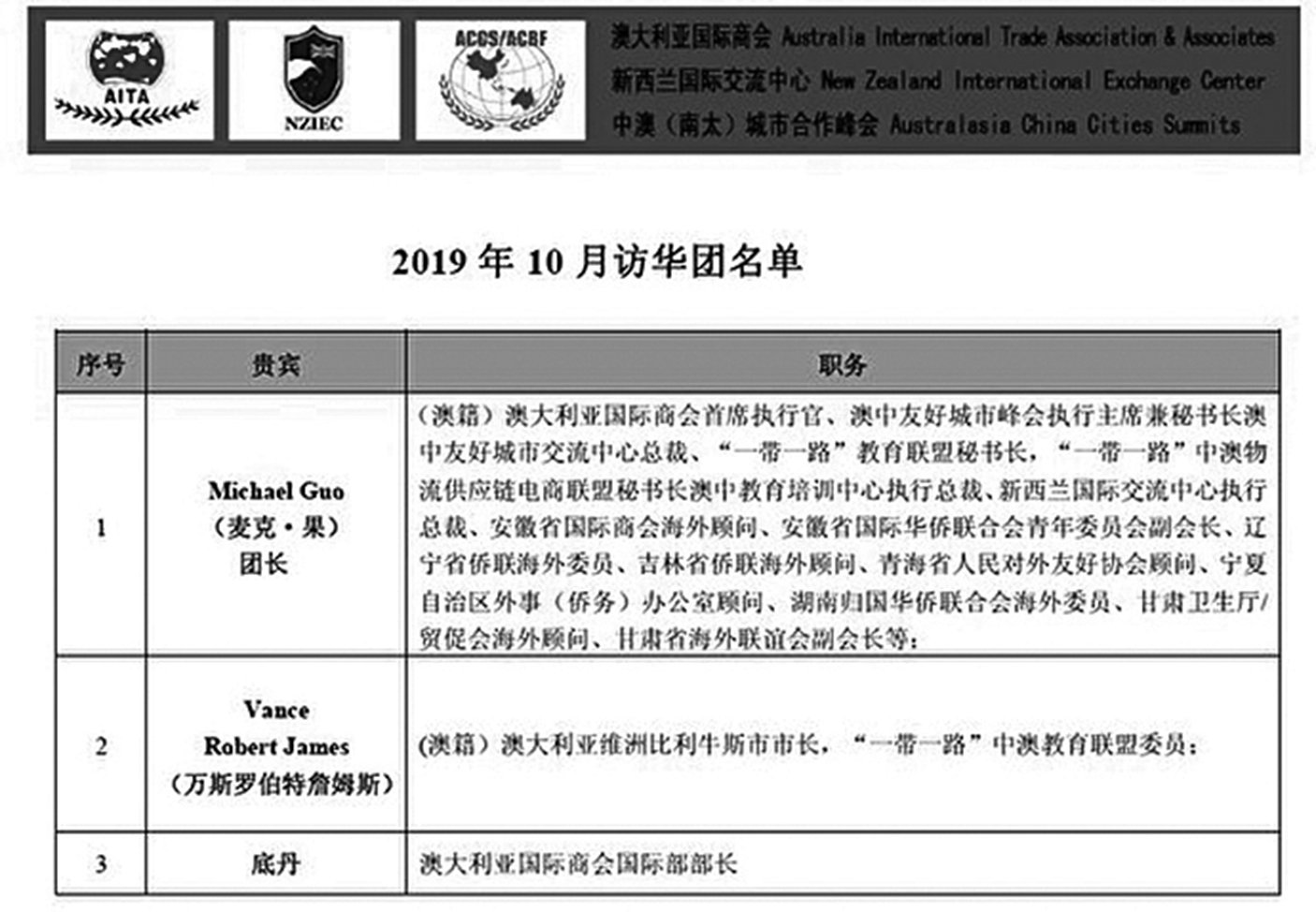 淮南市政府收到AITA於2019年10月23日發來的會晤商榷函。圖為函件截圖。(大紀元)