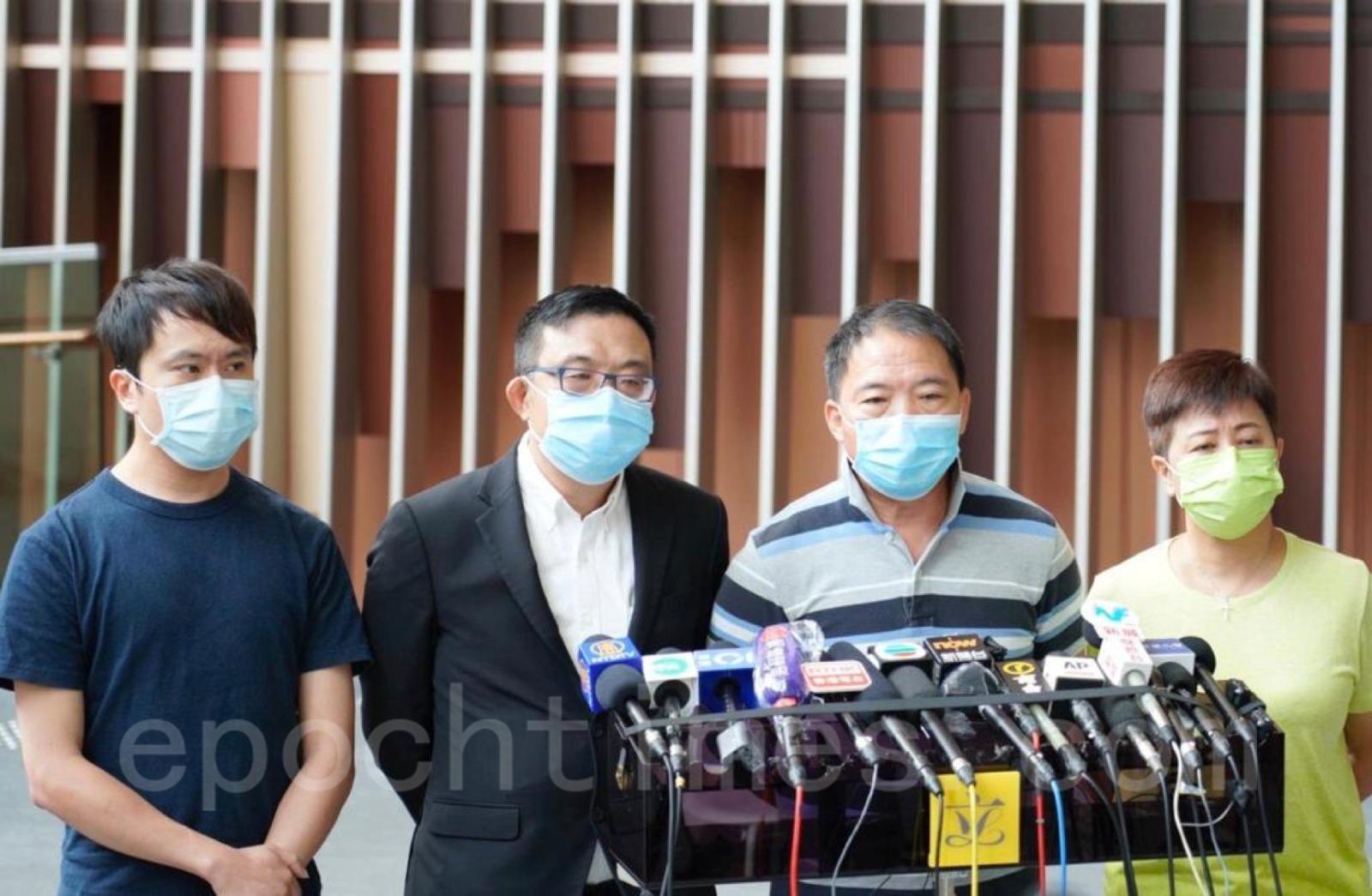民主黨回應林卓廷、許志峯被拘捕事件。(風祐/大紀元)