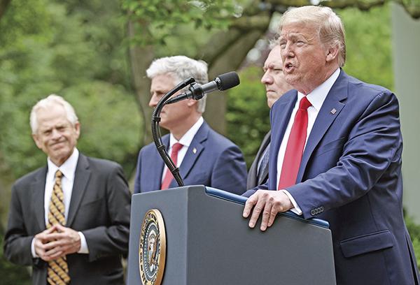 對中共強硬,可以說是特朗普任內外交政策的最突出特點,他周圍也聚集了一批對華鷹派官員。(Getty Images)