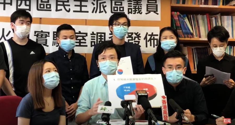 調查:九成七反對設火眼實驗室及推行港版健康碼
