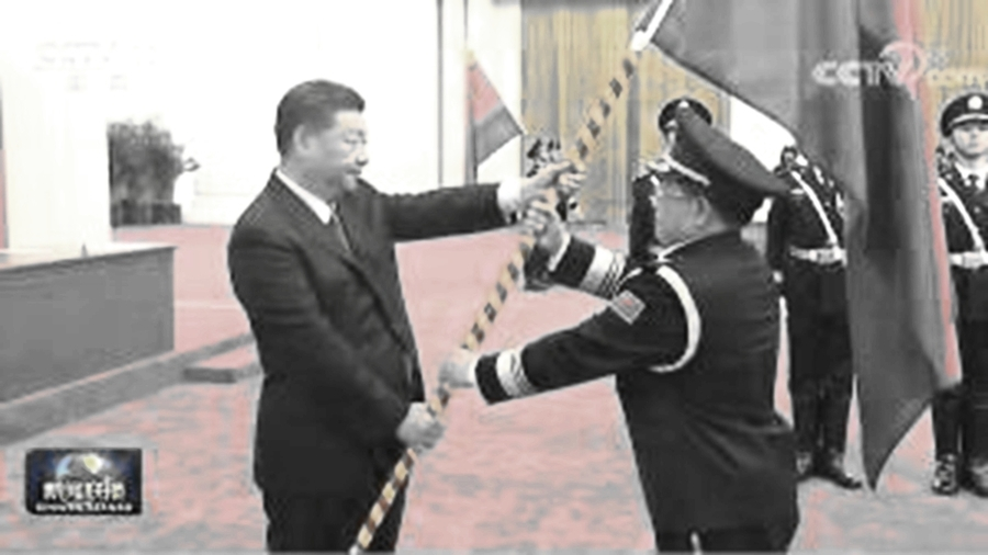習接掌國務院「刀把子」 授旗式不見李克強