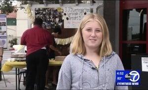 美12歲女孩賣檸檬水 籌過十萬港元幫助流浪漢