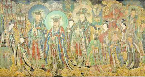 《朝元圖》,又名《神仙赴會圖》,傳為元代的晉南畫師朱好古所作。(加拿大安大略王室博物館藏/公有領域)