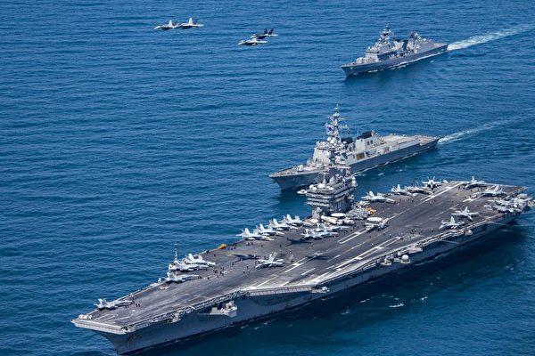 南海美國軍艦示意圖。(Getty Images)