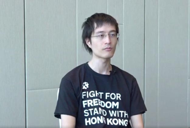 圖為李宇軒去年11月接受大紀元「珍言真語」節目訪問,時為「獨立選舉監察小組」召集人。(大紀元影片截圖)