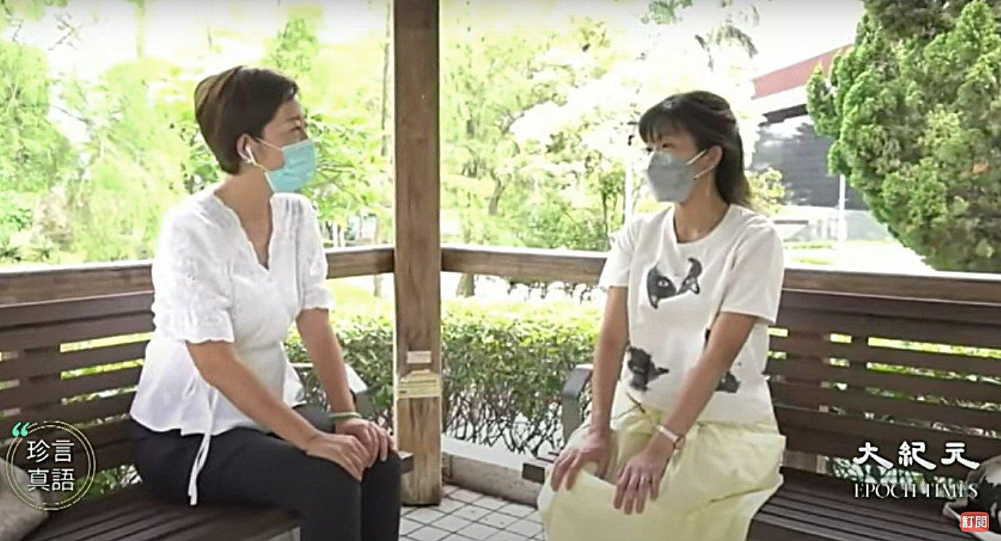 香港公共醫療醫生協會會長馬仲儀(右),今年7月接受本報「珍言真語」節目主持梁珍(左)採訪。(影片截圖)